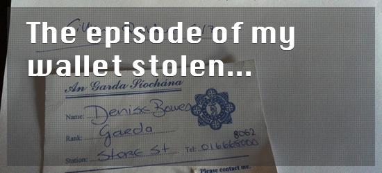 the episode of my wallet stolen